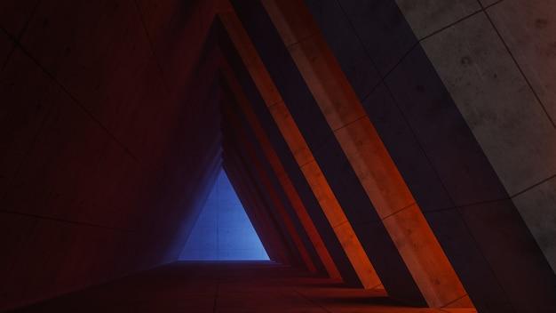 Фэнтези вселенная и космический коридор фон, 3d визуализации