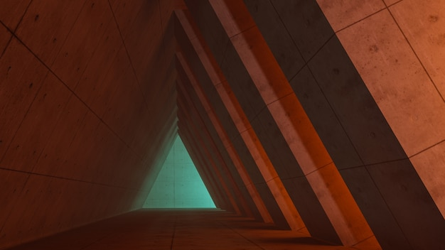 Fantasy universe and space corridor background , 3d render
