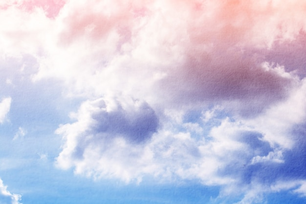 Fantasy and vintage dynamic cloud and sky with grunge texture for background abstract