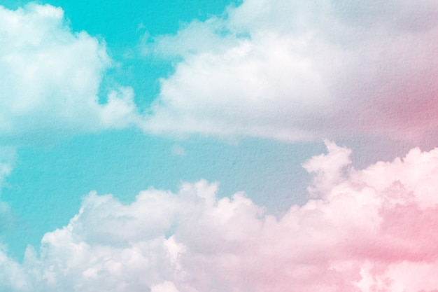 Fantasy and vintage dynamic cloud and sky with grunge texture for background