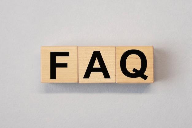 Faq頭字語qaおよびq質問の概念