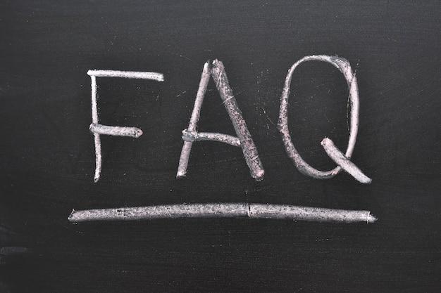 칠판에 자주 묻는 질문 텍스트