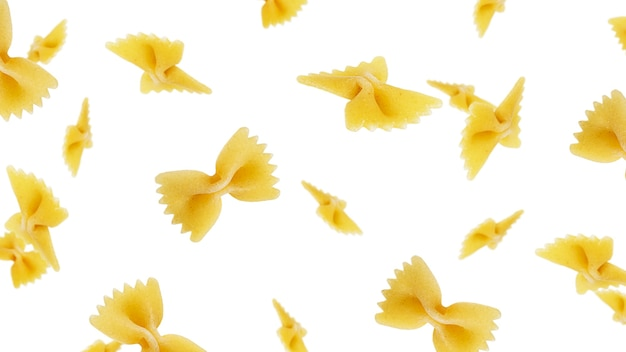 Farfalle isolated on a white background. farfalle flying. high quality photo