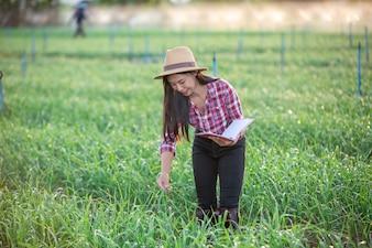 Farmers smiling women