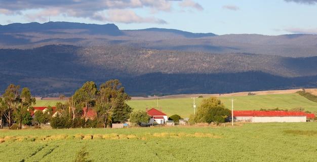 Farmhouse in rural