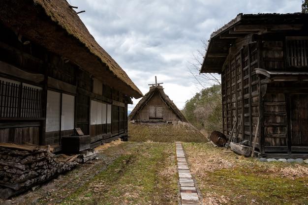 Farmhouses in hida no sato, takayama