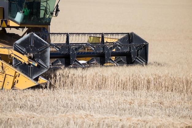 Farming vehicle on field