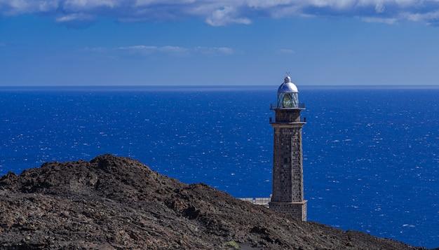 Фаро-де-орчилла маяк, эль йерро, канарские острова, испания