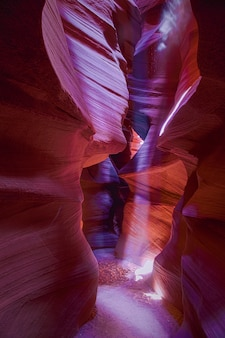 Fascinating vertical shot of the antelope canyon in arizona