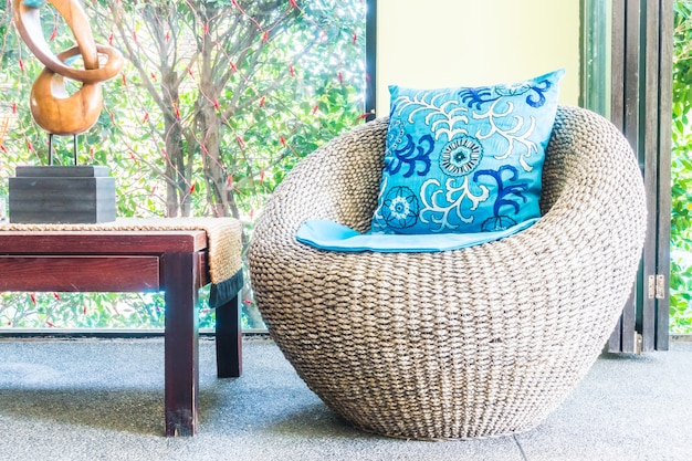 Fashion apartment cushions seat background