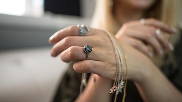 Fashion chain glass jewelry engagement wedding