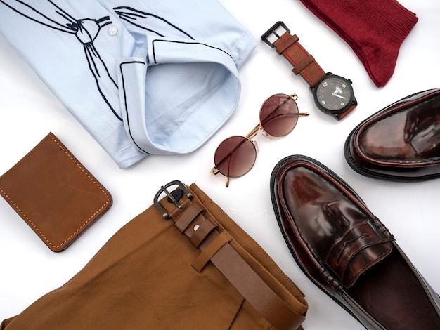 Fashion clothes set of a man