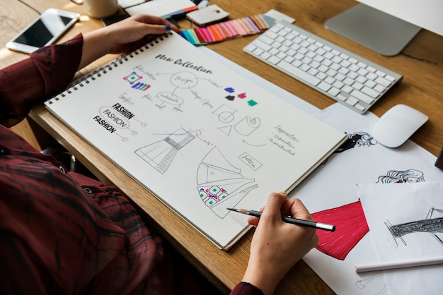 Модный дизайнер стильная концепция showroom