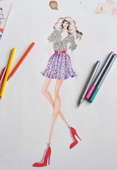 Иллюстрация девушки моды