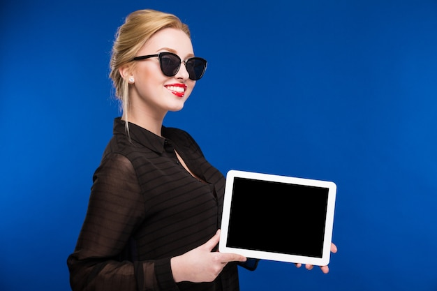 Fashion girl with the tablet