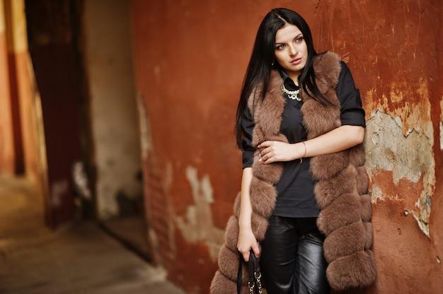 Fashion  gorgeous sensual woman outdoor