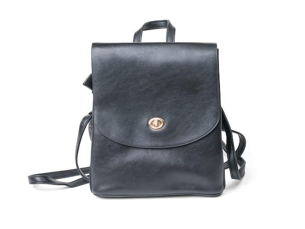 Кожаный рюкзак моды изолированный на белизне. популярный вид сумок. Premium Фотографии