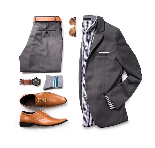 Fashion man business clothes set