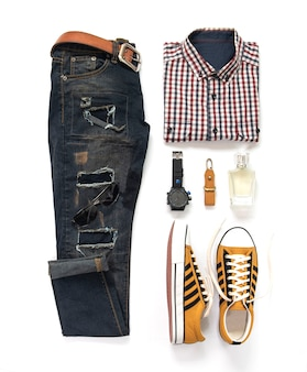 Fashion man clothing and accessories set