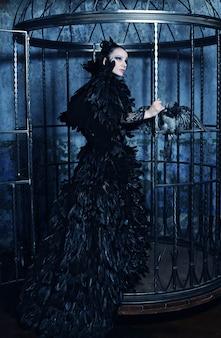 Fashion model in fantasy dress