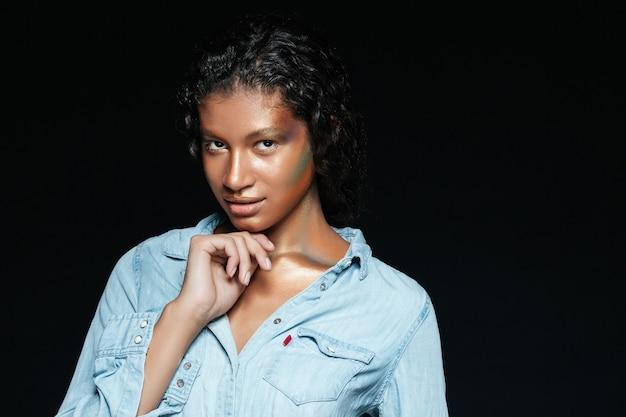 셔츠 패션 모델.