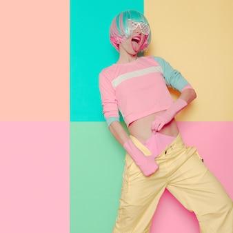 Модный дизайн в стиле поп-арт. минимализм. стиль вечеринки sexy baby sweet vanilla