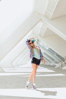 Fashion portrait bright beauty swag