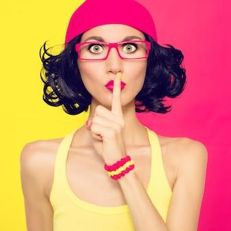 Модный портрет стильной женщины секрет