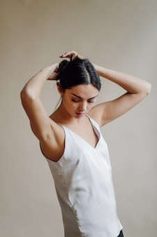 Fashion portrait of young elegant woman