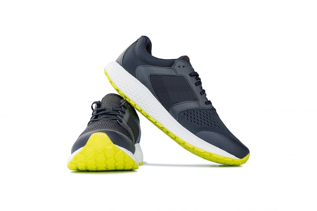 Fashion running sneaker shoes isolated on white.