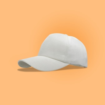 Fashion and sports white cap isolated
