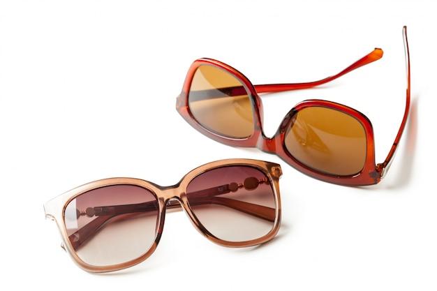 Fashion sunglasses isolated on white