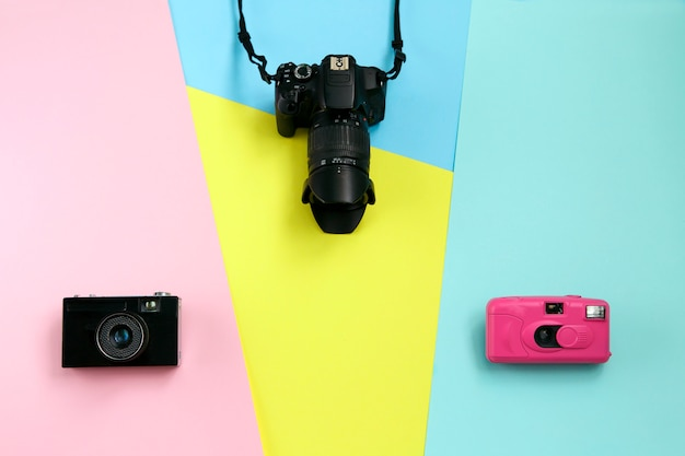 Fashion three cameras, hot summer vibes