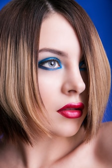 Fashion woman portrait. stylish makeup