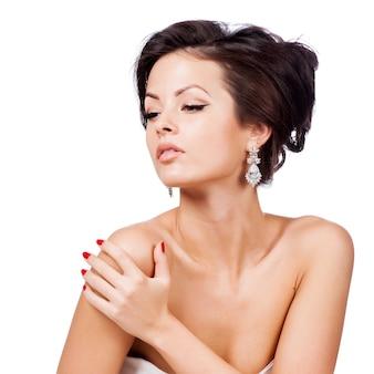 Fashion woman profile portrait.