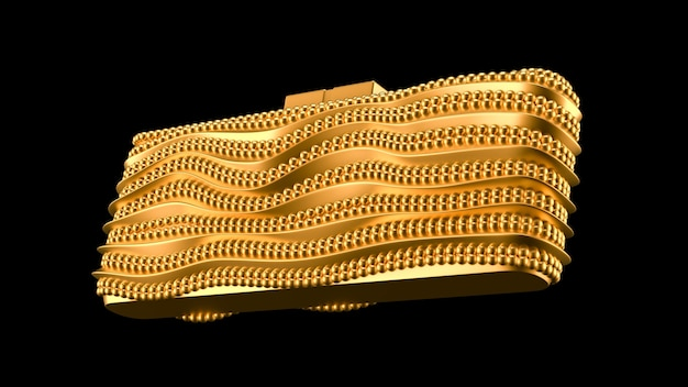Модный элегантный клатч, сумочка 3d визуализация