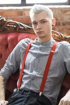 Fashionable man posing