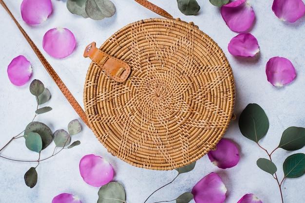 Fashionable rattan bag