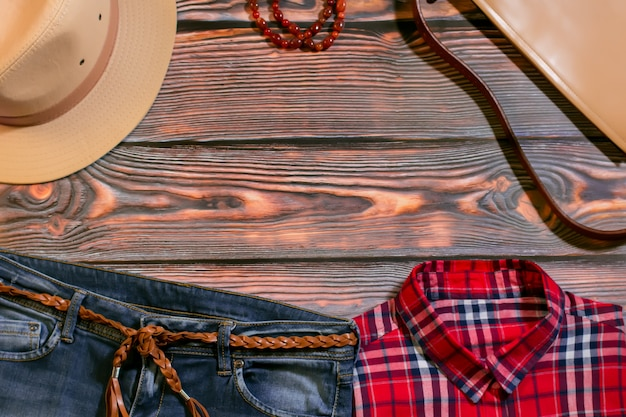 Fashionable western outfit for girls