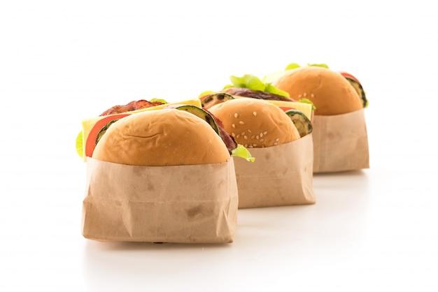 Concetto di fast food e cibo spazzatura