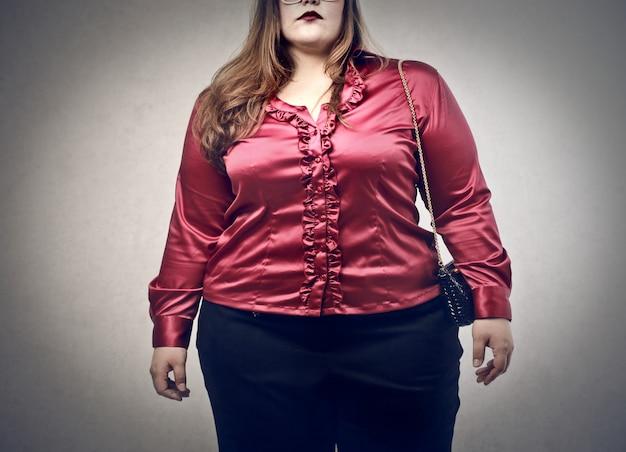 Fat elegant woman