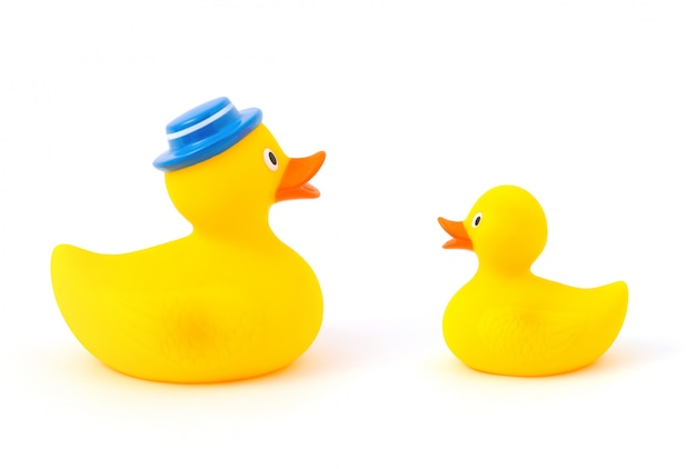 Father and baby rubber ducks