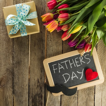 Father's day composition with variety of elements