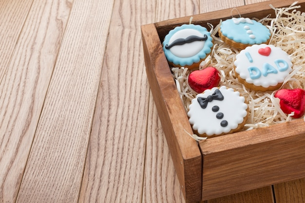 Father's day concept with cookies