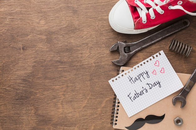 Father's day concept with tools
