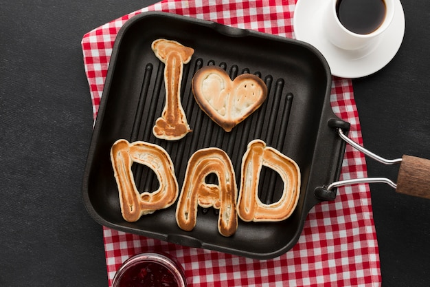 Father's day pancakes breakfast