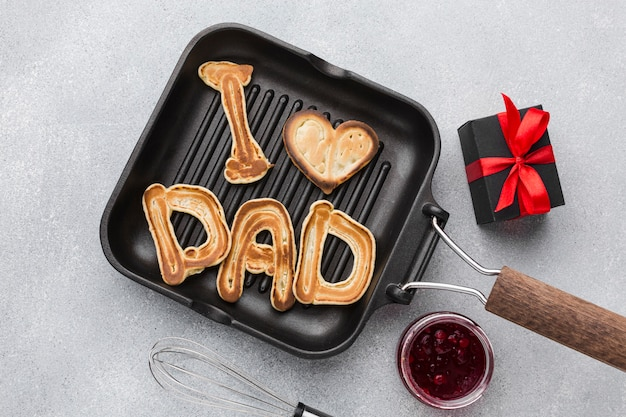 Father's day pancakes gift