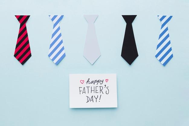 Festa del papà con legami diversi