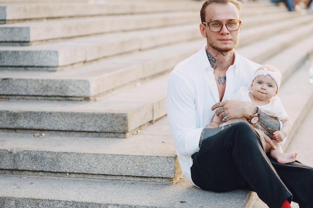 Padre con figlia