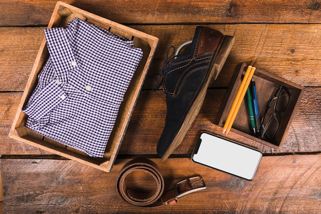 Fathers day composition with accessories